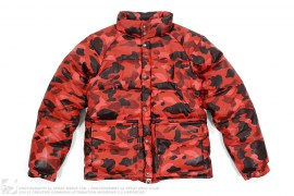 15th Anniversary Gold Member Color Camo Sheepskin Leather Down Jacket by A Bathing Ape