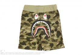 Color Camo Shark Sweatshorts by A Bathing Ape