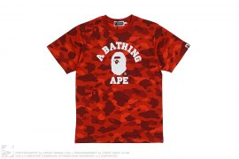 Color Camo College Logo Tee by A Bathing Ape