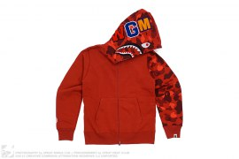 Color Camo Sleeve WGM Wappen Shark by A Bathing Ape