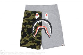 Half 1st Camo Shark Sweatshorts by A Bathing Ape