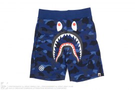 Color Camo WGM Print Shark Sweatshorts by A Bathing Ape