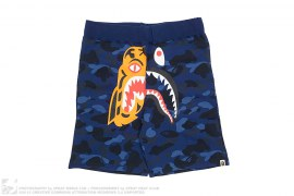 Split Tiger Shark College Logo Color Camo Sweatshorts by A Bathing Ape