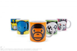 Milo & Friends Mug Cup Set Of 5 by A Bathing Ape