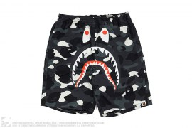 City Camo PONR Shark Beach Shorts by A Bathing Ape