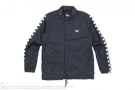 Checkered Sleeve Coach Jacket by Stussy