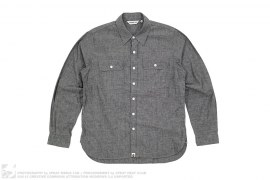 Chambray Button-Up Shirt by A Bathing Ape