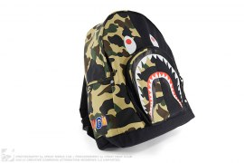 Half 1st Camo Shark Backpack by A Bathing Ape