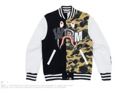 Zozo Exclusive Half 3M 1st Camo Shark Sweat Varsity Jacket by A Bathing Ape
