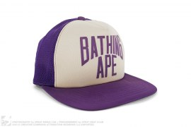 mens snapback City Limited New York Logo Mesh Trucker Snapback by A Bathing Ape