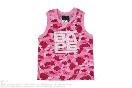 Color Camo Busy Work Mesh Basketball Jersey by A Bathing Ape