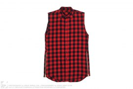 Side Zip Sleeveless Flannel Shirt by Fear Of God