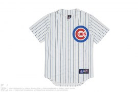 Chicago Cubs Pinstripe Jersey by Majestic