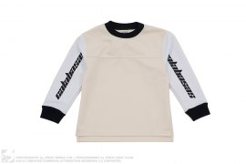 Calabasas Two Tone Sleeve Print Jersey Sweatshirt by Kids Supply