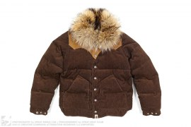 Fur Collar Corduroy Down Jacket by A Bathing Ape