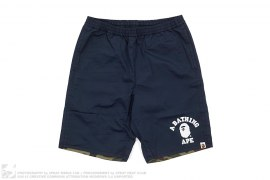 mens bottom Reversible 1st Camo College Logo Shorts by A Bathing Ape