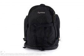 24th Red Leather Box Logo Backpack by Supreme