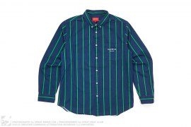 Classic Logo Pin Stripe Button-Up Shirt by Supreme