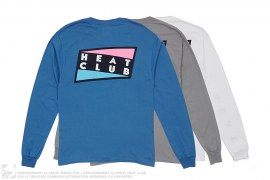 Heat Wave Logo Puff Print Long Sleeve Tee 3pack by 3peat LA x heatclub