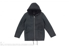 Hooded Shearling Jacket by Kanye West