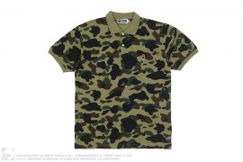 1st Camo Small Apehead Polo by A Bathing Ape