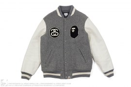 Survival Of The Fittest Letterman Jacket by A Bathing Ape x Stussy
