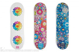 Flower Skateboards Set Of Three by Takashi Murakami x Complexcon