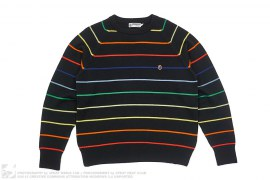 Multi Color Striped Sweater by A Bathing Ape