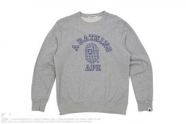 Plaid College Logo Crewneck by A Bathing Ape