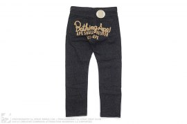 Chain Stitch Logo Type-02 Regular Denim by A Bathing Ape