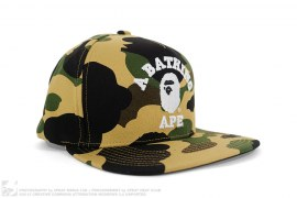 1st Camo College Logo Snapback by A Bathing Ape