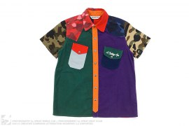 Crazy Patchwork Flannel Button-Up Shirt by A Bathing Ape