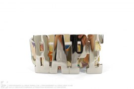 Multi Camo Leather Logo Belt Buckle by A Bathing Ape