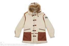 Leather Trim Sherpa Lined Coat by A Bathing Ape