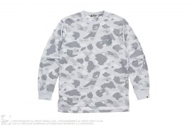 Dot 1st Camo Polyester Long Sleeve Tee by A Bathing Ape