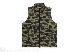 1st Camo Down Vest by A Bathing Ape