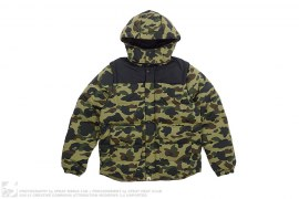 1st Camo 4way Convertible Hooded Down Vest Jacket by A Bathing Ape