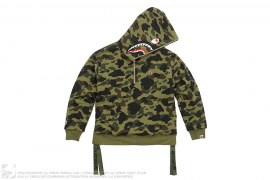 Military Rock Star 1st Camo Shark Sherpa Pullover Hoodie by A Bathing Ape