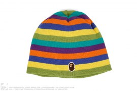 Apehead Rainbow Border Beanie by A Bathing Ape