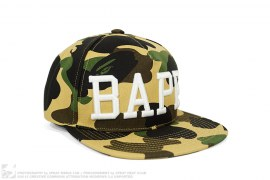 1st Camo Raised BAPE Snapback Hat by A Bathing Ape