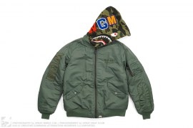 Military Rock Star 1st Camo Convertible Shark MA1 Bomber Jacket by A Bathing Ape