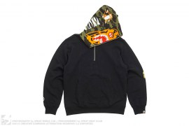 Half 1st Camo Tiger Half Zip Anorak Pullover Hoodie by A Bathing Ape