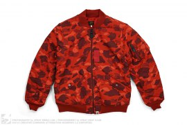 Color Camo MA1 Bomber Flight Jacket by A Bathing Ape