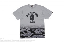 Gradient Tiger Camo College Logo Tee by A Bathing Ape