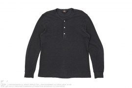 RRL Three Button Henley Long Sleeve Thermal Tee by Ralph Lauren
