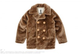 Faux Fur Peacoat by A Bathing Ape