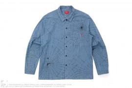 Spider Web Button-Up Shirt by Supreme
