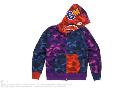 Ultimate Crazy Color Camo Shark Hoodie by A Bathing Ape