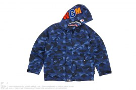 Color Camo Shark Snowboarding Jacket by A Bathing Ape