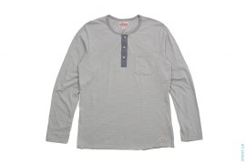 Three Button Pocket Henley Long Sleeve Thermal Tee by True Religion